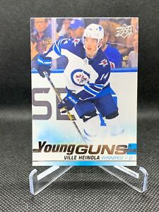 VILLE-HEINOLA-2019-20-UPPER-DECK-YOUNG-GUNS-ROOKIE-CARD-204-WINNIPEG-JETS