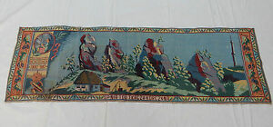 Vintage French Beautiful Tapestry 54x163cm T429