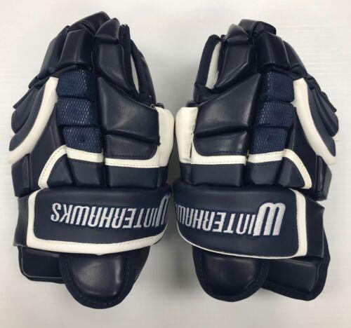 "New RYR Ice Hockey Player Gloves /""Winterhawks/"" Navy White Junior 12/"" jr size"