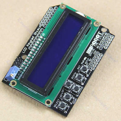 For Arduino Expansion Board 1602 LCD Board Keypad Shield Blue Backlight