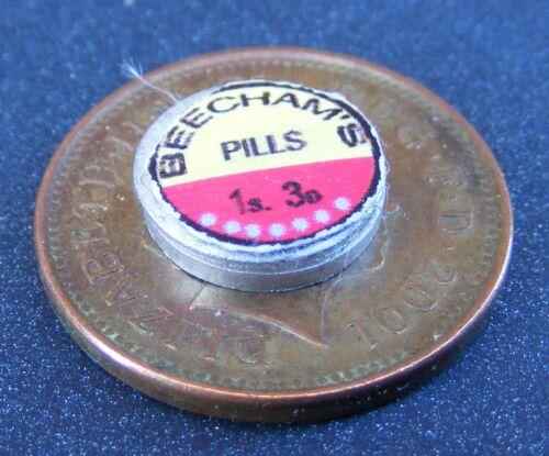 1:12 escala Beechams Pastillas Lata tumdee casa de muñecas en miniatura de baño químico