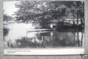 Details about ca  1904 Canoe on Sunset Lake Asbury Park, NJ postcard