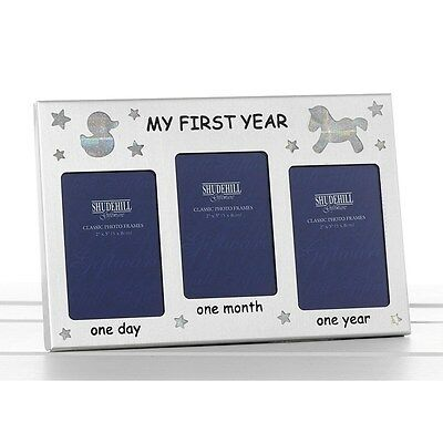 My First Year Photo Frame Baby Birth Christening Birthday Gift