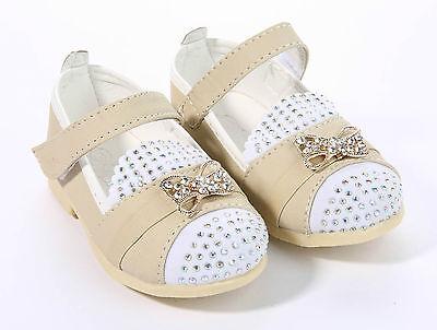 UK Girls Baby Kids Infant Party Wedding Bow Sandals Child Princess Shoes Size