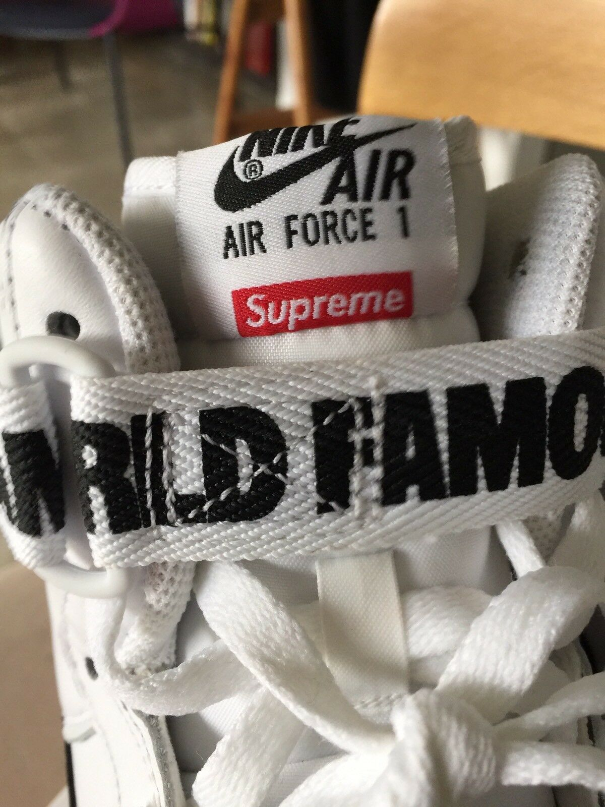 Nike Air Force Force Force 1 Supreme High 9 White Red Black Sf Af1 Dunk Air Max c131a8