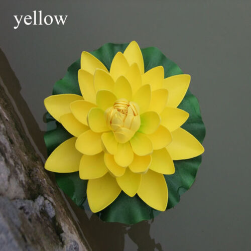Plants Green Leaves Water Lily Simulation Fake Plants Artificial Lotus Flower