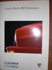 Prospekt Sales Brochure Lancia Delta HF Integrale Car 1993 Technik автомобиль