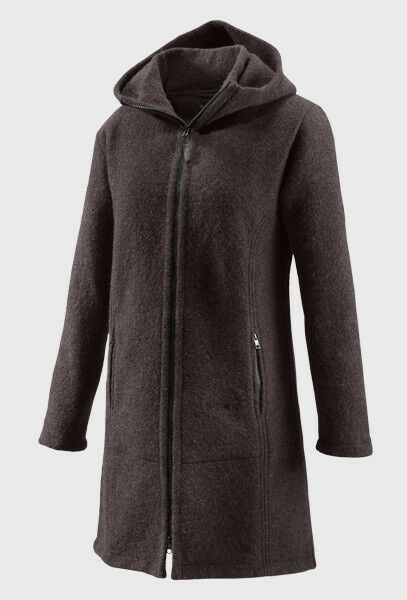 Mufflon Universale Damen Mantel Merinowolle - W100 Jana Winter Größe XS Brown