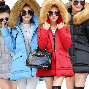 NEW-WOMENS-LADIES-QUILTED-WINTER-COAT-DOWN-PUFFER-FUR-COLLAR-HOODED-JACKET-PARKA