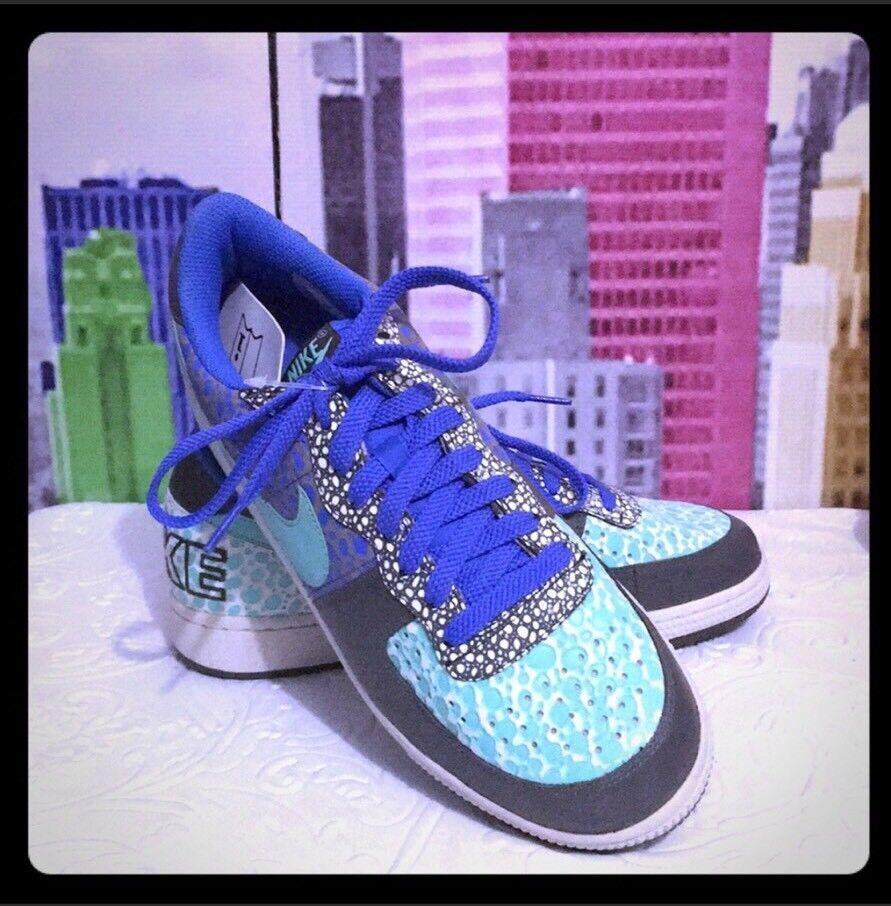New Authentic Nike Terminator Low Premium Newsprint/mint Blue Black Men Shoes