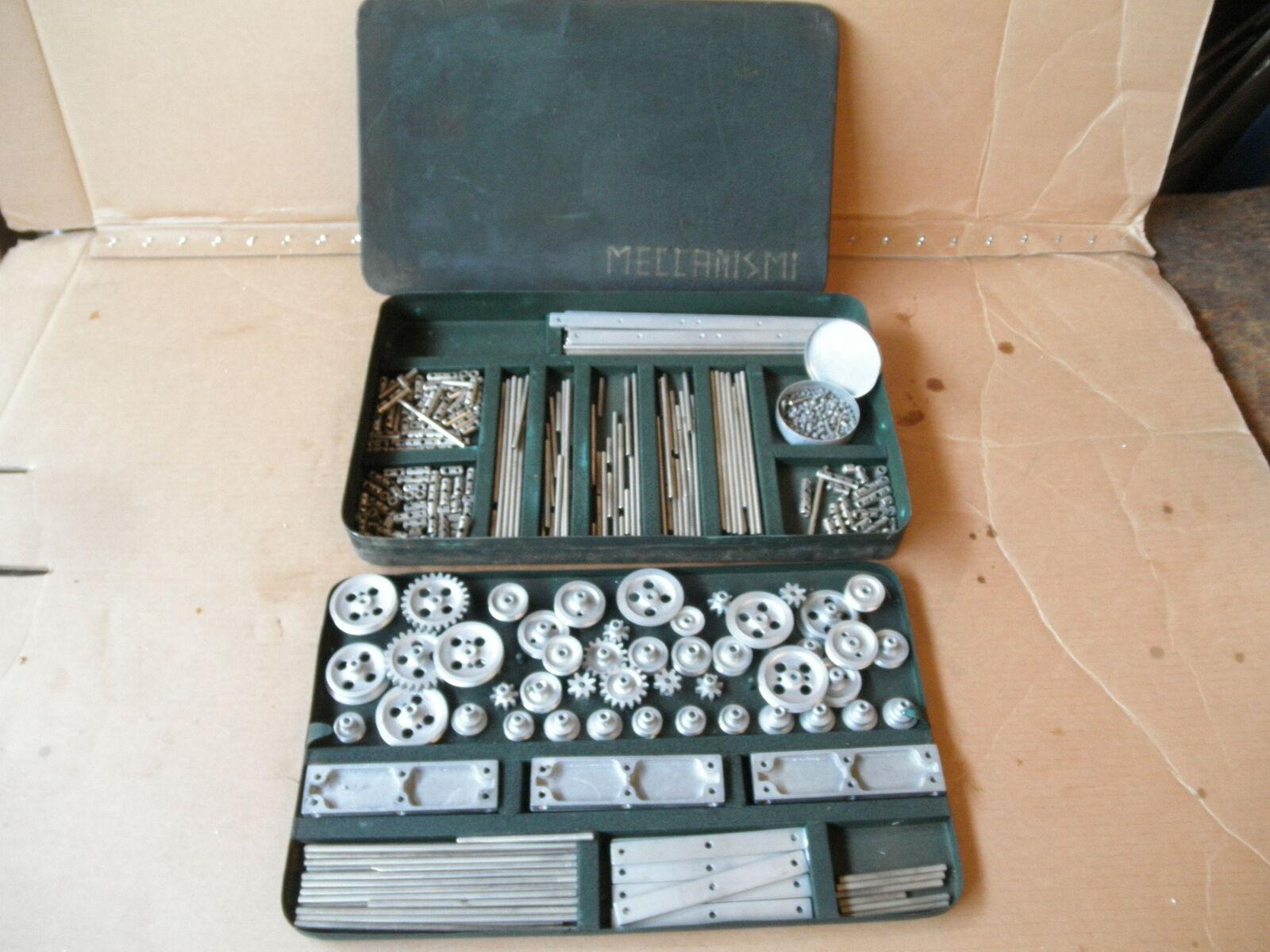 Meccanismi projootipo de ingeniería mecánica Erector Set Vintage Juguete Antiguo Gear