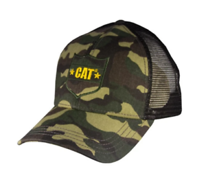 BD/&A Caterpillar CAT Equipment Realtree Xtra Yellow Camouflage Mesh Snapback Cap//Hat