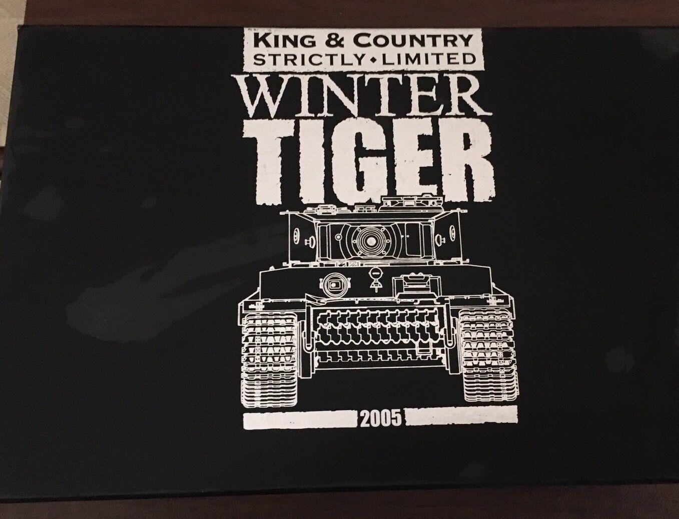 King and Country Winter Tiger strikt begränsad WS70