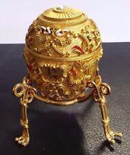 "Beautiful Gold Tone Decorative Faberge Egg: Easter Egg Trinket Box, 2.5"""