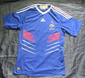 low priced 09a27 4ade0 Details about FRANCE World Cup South Africa 2010 Home Shirt jersey ADIDAS  Tricolores /adult S
