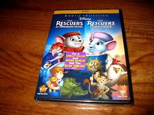 The Rescuers: Disney(The Rescuers / The Rescuers Down Under, DVD) NEW+Fast Ship