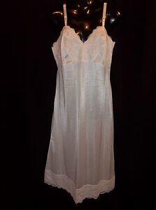 NANCY-KING-White-WIDE-Lace-Full-DRESS-SLIP-Womens-Size-36