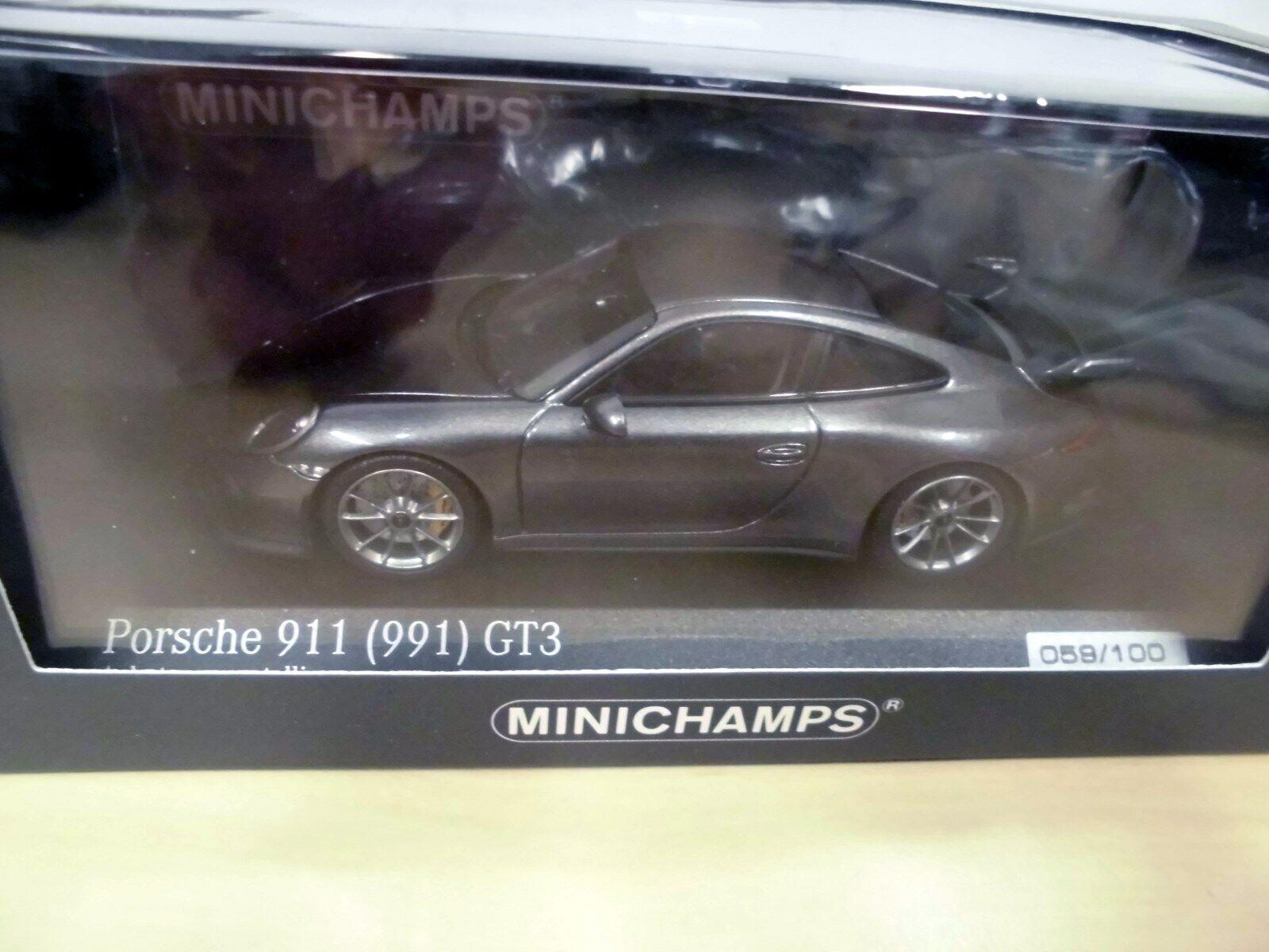 PORSCHE 911 gt3 (991) 2013-Agata Grigio Metallico-Minichamps ca 043 16 022 -1 43