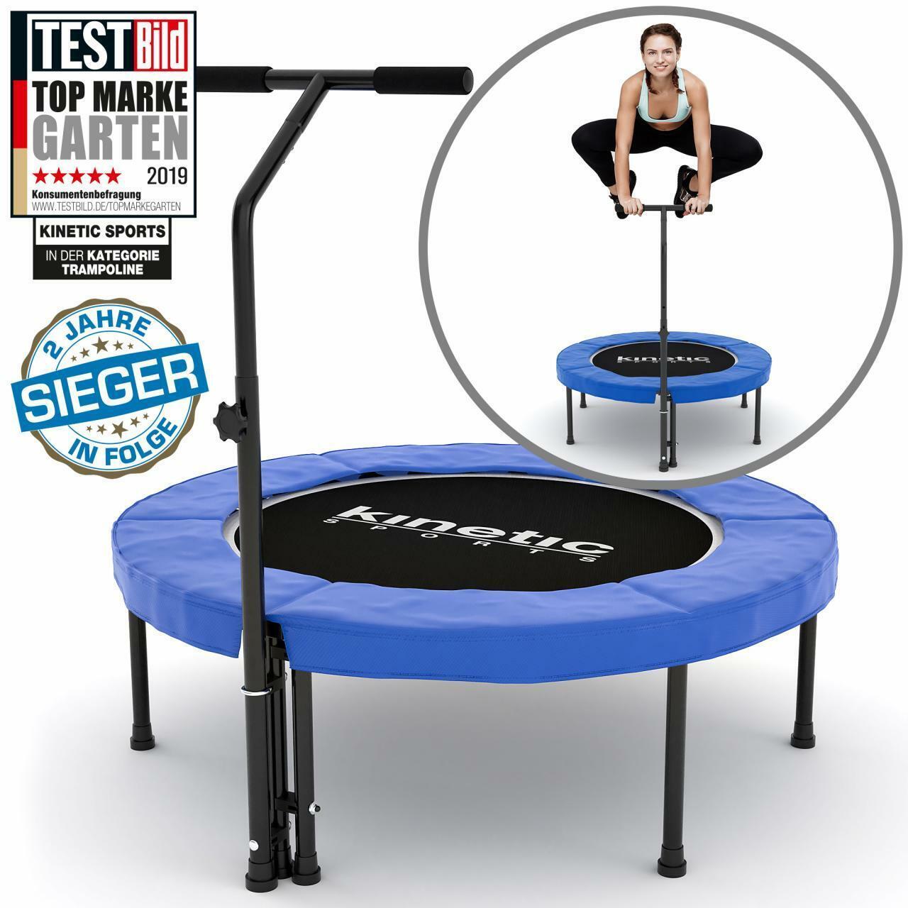 Trampolino Elastico per Fitness 100cm Tapetto Palestra Interno Allenamento Blu