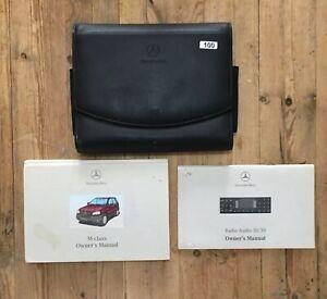 Bien éDuqué 1998-2001 Mercedes Ml Owners Handbook Manual Pack Et Portefeuille Ref100-afficher Le Titre D'origine Facile à Lubrifier