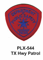 Tx Hwy Patrol (state Police) Embroidered Patches 4