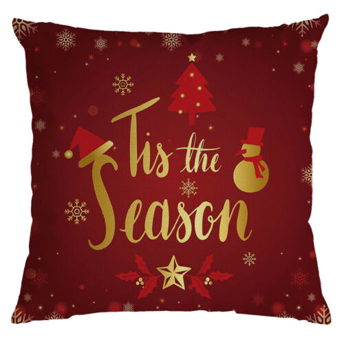 Christmas Festival Pillow Pillowcases Decor Sofa Square Cushion Cover 45x45cm