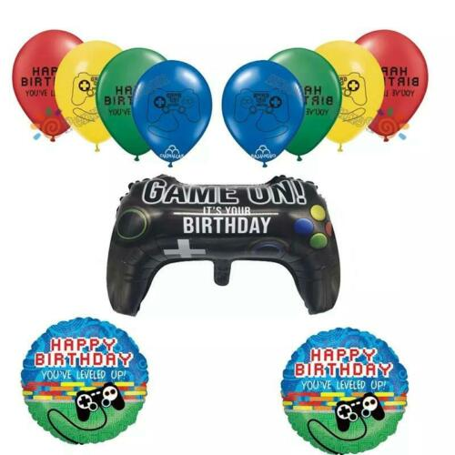 Juego de globos Videojuegos de Cumpleaños Video Game Birthday Balloon set