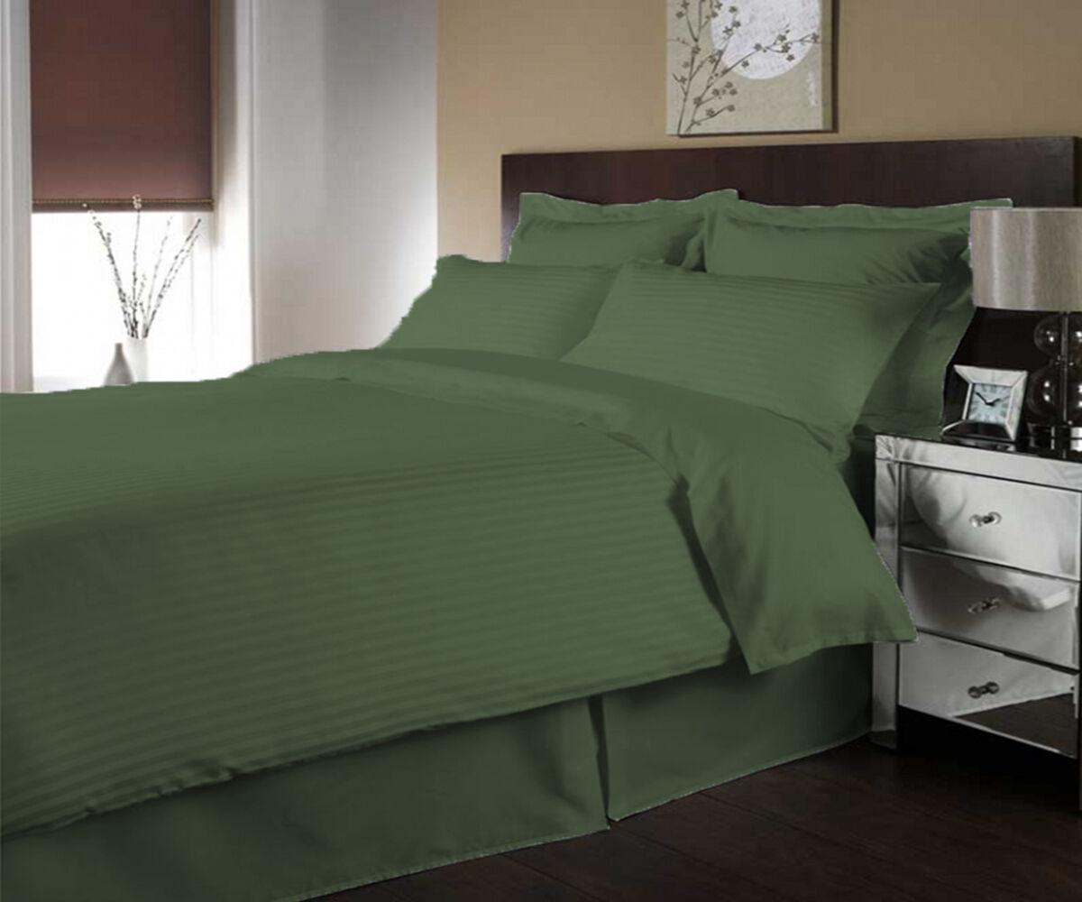 800 TC 100% Egyptian Cotton Stripe Twin Size Duvet cover set select color