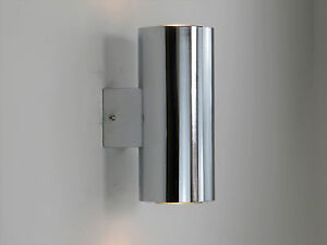 Lampada da parete moderna applique moderno cromo luci cilindro