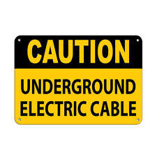 Horizontal Metal Sign Multiple Sizes Caution Underground Electric Cable Warning