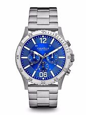 Caravelle New York Men's 43A116 Quartz Chronograph Blue Dial Bracelet 44mm Watch