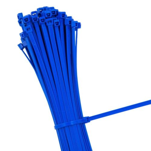 BLUE STRONG QUALITY NYLON CABLE TIES ZIP WRAPS Small//Large Short//Long UK