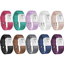 COLORS SUPER 10PK Wristband Band Strap Bracelet Accessories For FITBIT CHARGE 2