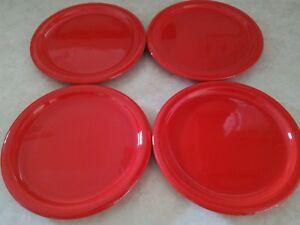"""Lot de 4 Waechtersbach Solid Red Salad Plate- 8""""-afficher le titre d`origine Lbh5CW3O-09085911-311905250"""