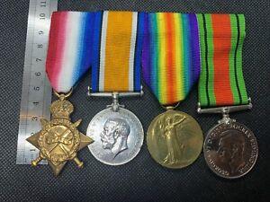 Original-WW1-4x-Medal-Group-Named-Gunner-N-Harris-Royal-Artillery-WW2-HG