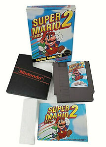 Super Mario Bros 2 Nintendo NES Circle Seal Complete In Box