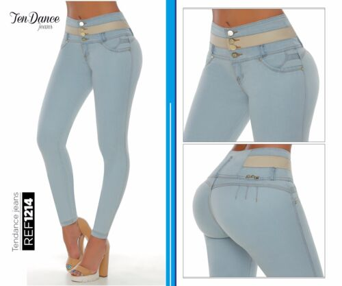 Jeans Colombianos levantacola push up Butt lifter fajas levanta pompi 1214