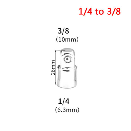 """3//8/"""" to 1//4/"""" 1//2 inch Drive Ratchet Converter Socket Adapter Reducer Air Impact@"""