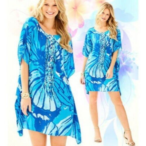 Lilly Pulitzer Lindamarie Caftan Sparkling Blue Si
