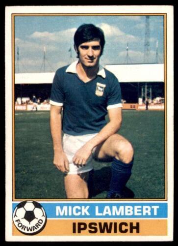 Mick Lambert Ipswich Town No Topps Football Red 1977 9 B1