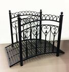 LARGE GARDEN BRIDGE W/ SIDE RAIL FISH POND OUTDOOR ORNAMENT WROUGHT IRON
