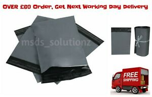 10X14-034-Strong-GREY-MAILING-BAGS-A4-Self-Seal-Poly-Postal-Postage-Mailers-Packing