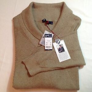 Image Is Loading Daniel Cremieux Men Shawl Cotton Silk Sweater Taupe
