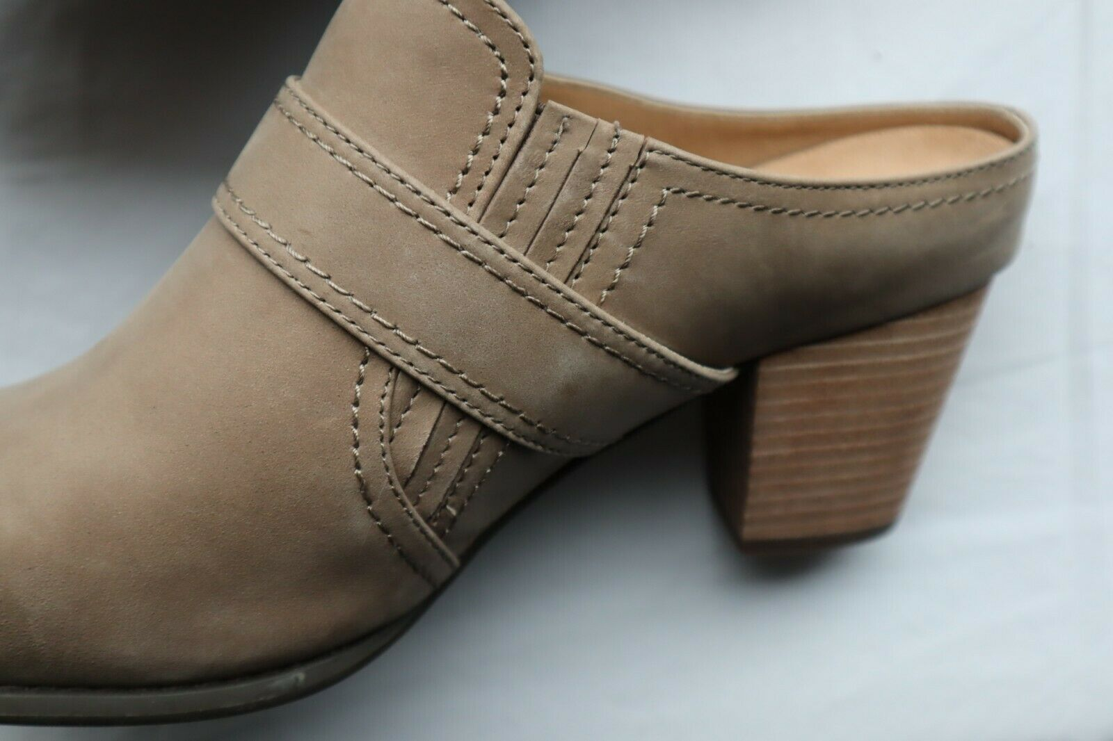 Taupe braun Leather Low VIONIC Cheyenne Low Leather Back Slides Heels 10 W 3957ad
