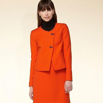 Damen Duster Blazer Jacke Orange  Gr. 34 XS  HALLHUBER  NEU