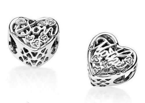 Mother And Son Charm 925 Sterling Silver With Cubic Zirconia Stones Perfect Gift