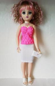 CISSY-DOLL-CLOTHES-Top-Skirt-Purse-amp-Jewelry-handmade-21-034-Fashion-NO-DOLL-d4e
