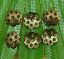 free ship 500pcs bronze  color Hollow Metal bead cap 6mm SH324