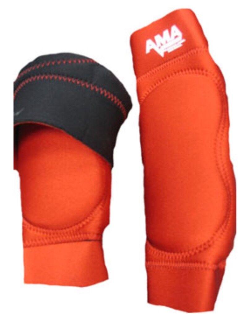AMA Red Pro Knee Pads Medium wrestling football MMA judo sports Jui Jitsu M