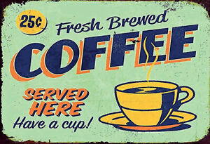Fresh-Brewed-Coffee-Here-Tin-Sign-Shield-Arched-7-7-8x11-13-16in-FA1030